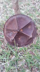 плита от 82-мм миномета обр.1941г. (с колесами)