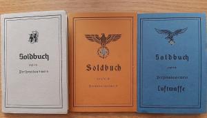Солдатские книжки.СС.Вермахт.Люфтваффе.
