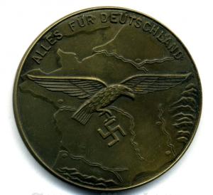 Настольная медаль полевого дивизиона люфтваффе