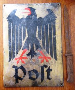 Немецкая табличка с орлом