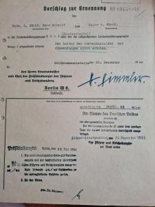 Документ с подписью Гиммлера