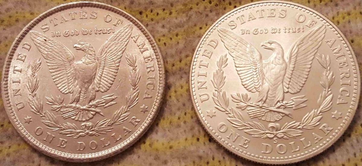 Доллары Морган 1881 и Old Mint 2006