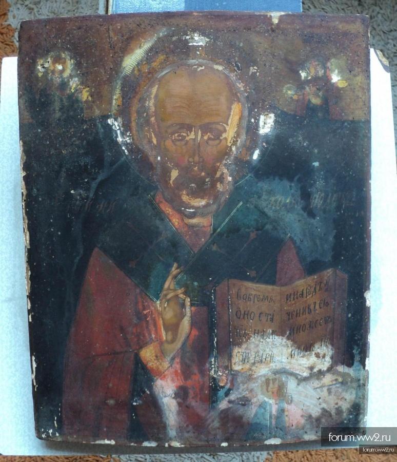 Икона Св. Николай Чудотворец. Первая треть 19 в. Аналой.