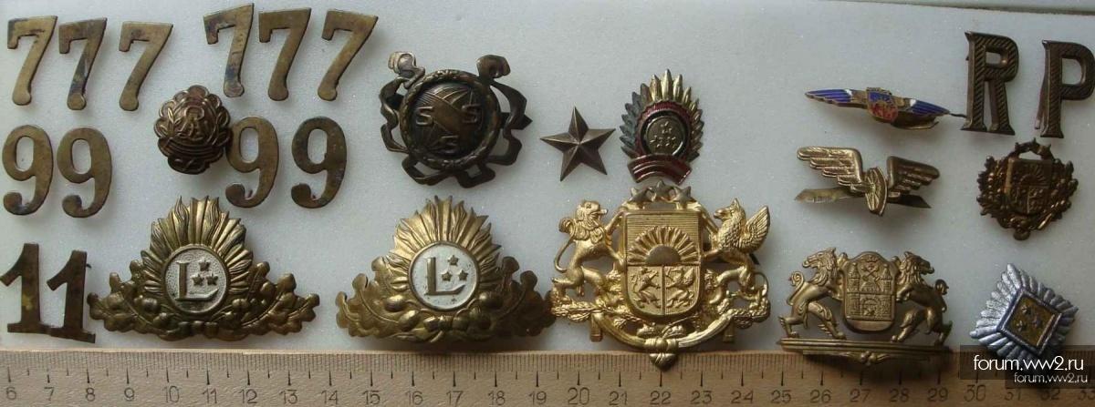 Офицерская кокарда Латвии до 1940 г.