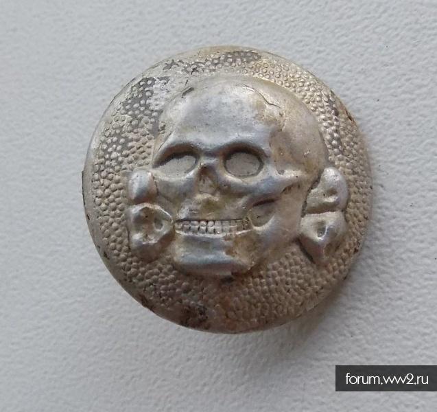 Пуга-кокарда СС мертвая голова