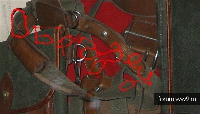 Суррогатированное(кожано-тесьмяное)  снаряжение комначсостава обр. 32(38?) г.