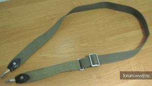 Плечевой брезентовый ремень на вермахтовскую сухарку