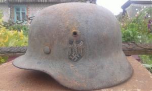 Каска М-35  фронтовой реюз