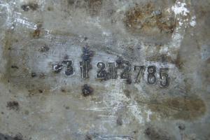Деталь советского самолета с номером