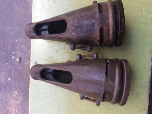Две части конского противогаза вермахт