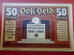Нотгельд Gefallenen Deutsche Soldaten 1914-1918