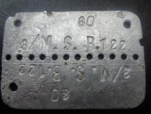 жетон морского пехотинца 3.M.S.B.122