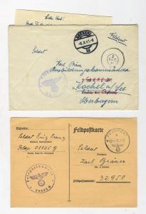 Письма немецкие 2 шт. (11183,08825)