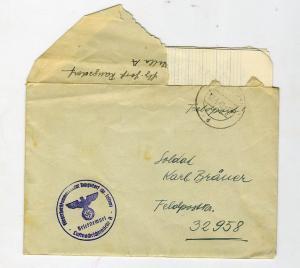 Письмо немецкое со штампом авиационной комендатуры.
