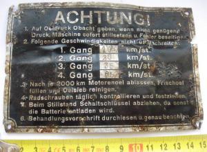 Немецкая шильда от техники