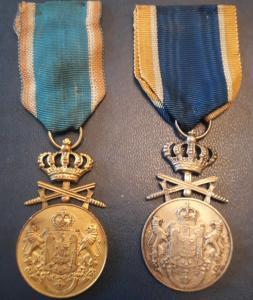 Королевство Румыния. Медали за отличную службу с мечами 1 и 2 ст