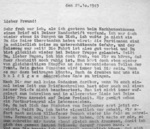 Письмо из Демянского котла