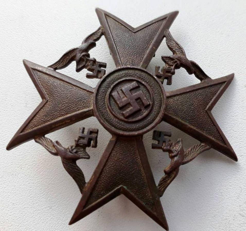 Испанский крест без мечей в бронзе