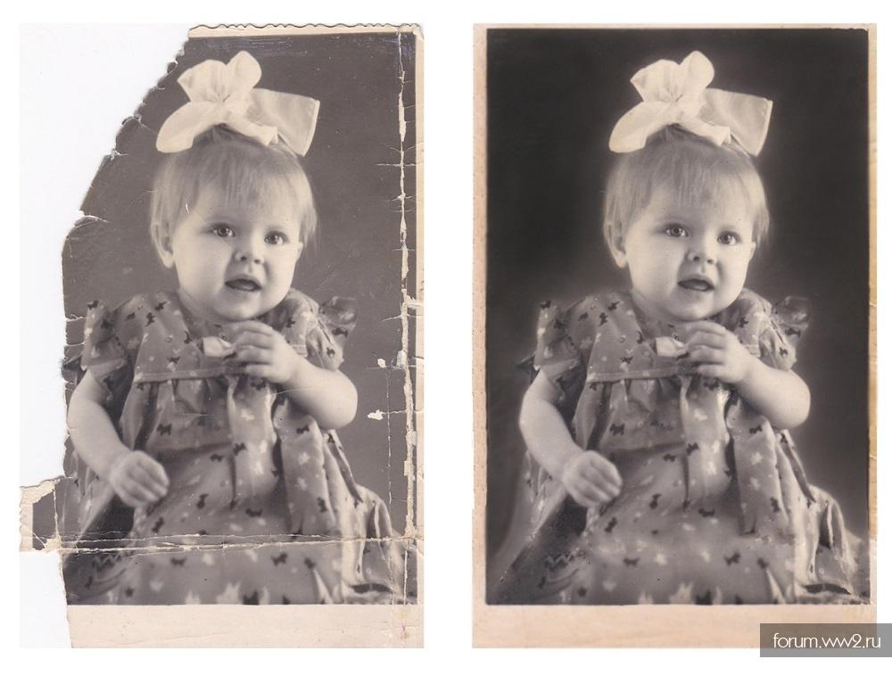 насыщена приемы реставрации старых фотографий иной образ