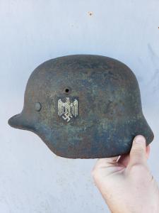 немецкий шлем М-35 Сталинград подписная