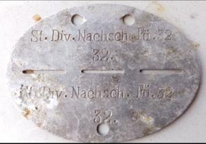 Жетон St.Div.Nachsch.Fu 32