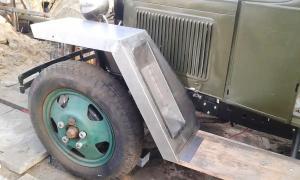 Набор крыльев ГАЗ-ММ военного образца(левое с нишей под запаску)