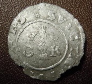 1 эре 1611 г. Швеция.Серебро.Редкая.