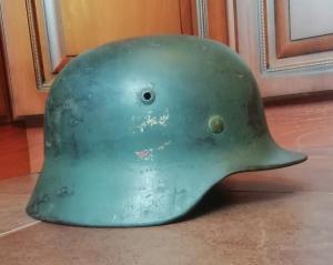 Шлем М-35  подпись владельца,