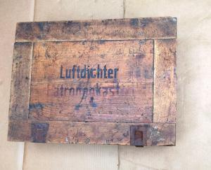 Немецкий деревянный ящик из под боеприпасов