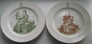 Две настенные тарелки NSV