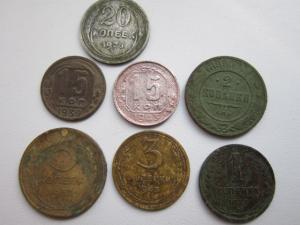 7 шт монет разом