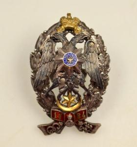 Копии полковых знаков с оригиналов. Серебро, горячая эмаль.