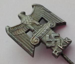 """RKK. Членский знак """"Reichskulturkammer"""". Клеймо """"Deschler & Sohn, München""""."""