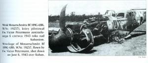 Ме-109G-4 № 19257, Fw. Petermann, JG52