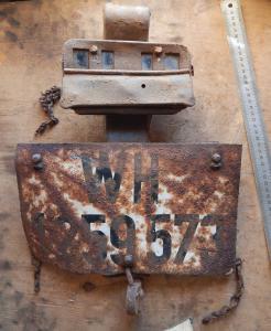 Автомобильный номер WH c фарой нотек