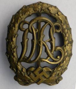 Спортивный знак DRL в бронзе Wernstein.