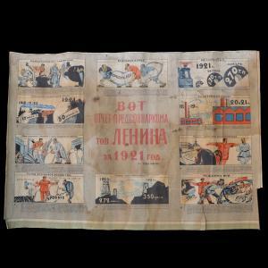 Плакат «Вот отчет предсовнаркома т. Ленина за 1921 год», 1922 г. (?)