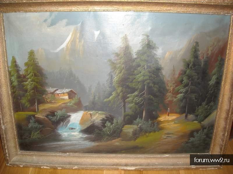 картина, баварский пейзаж