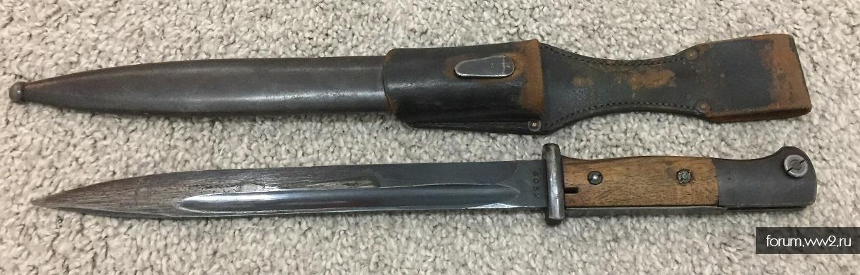 Штык-нож К98 парный с подвесом
