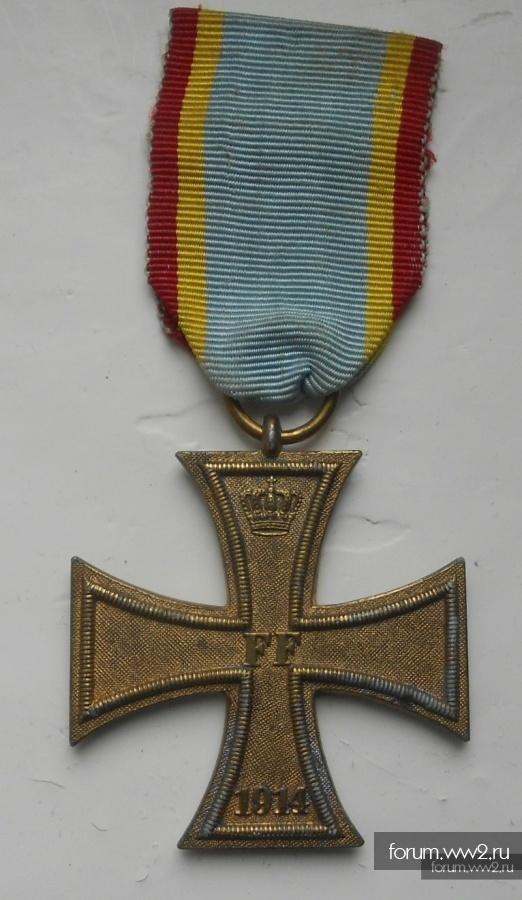 Крест военных заслуг 2 класса Мекленбург-Шверин 1914