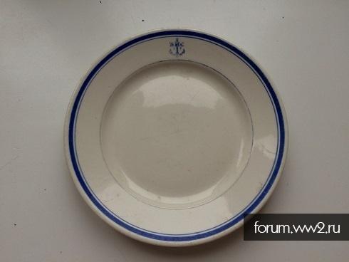 """ВМС: тарелка """"мелкая """" 1954г....Дулёво.."""