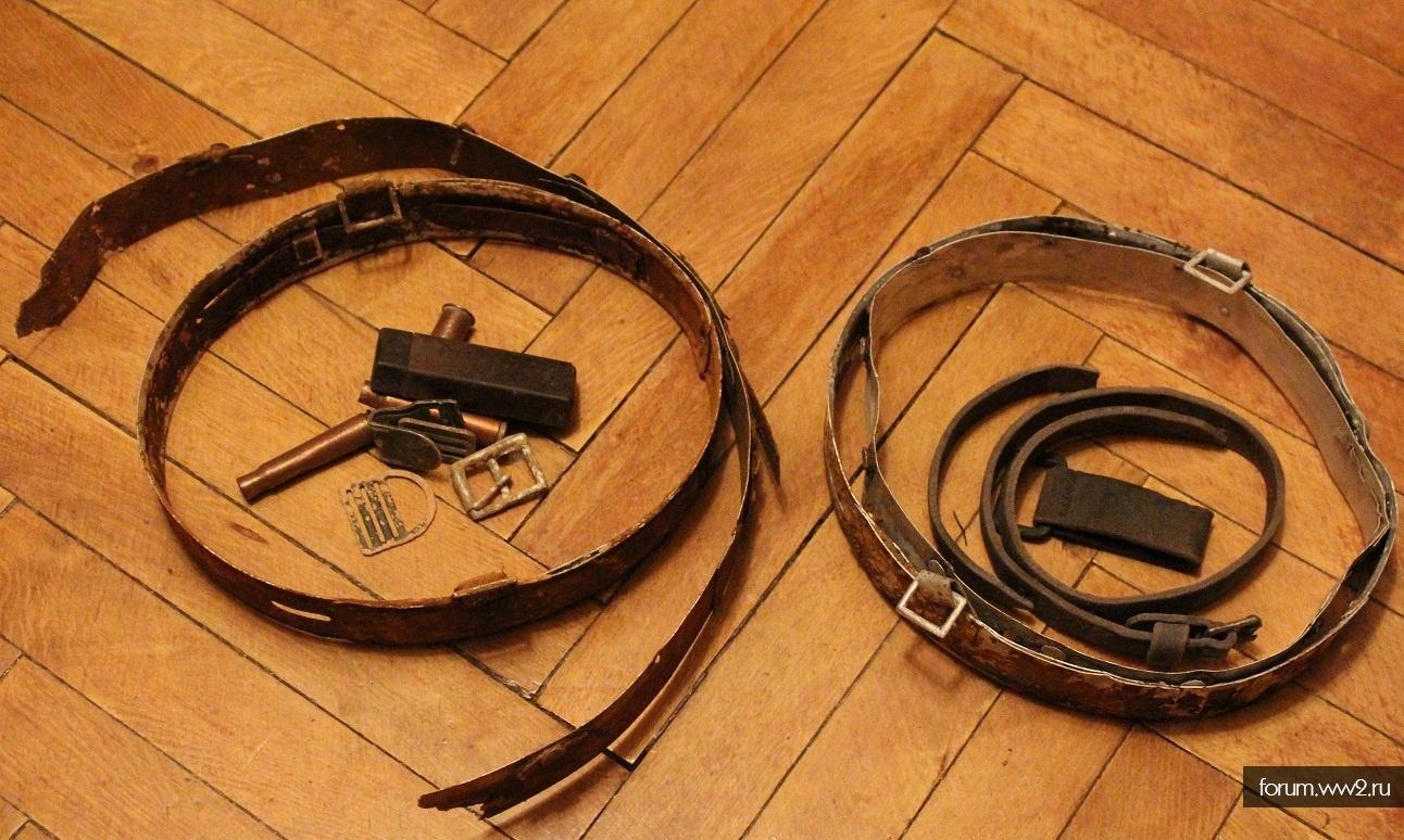 комплектные обручи на М-35/64 и кожаные элементы снаряжения вермахта
