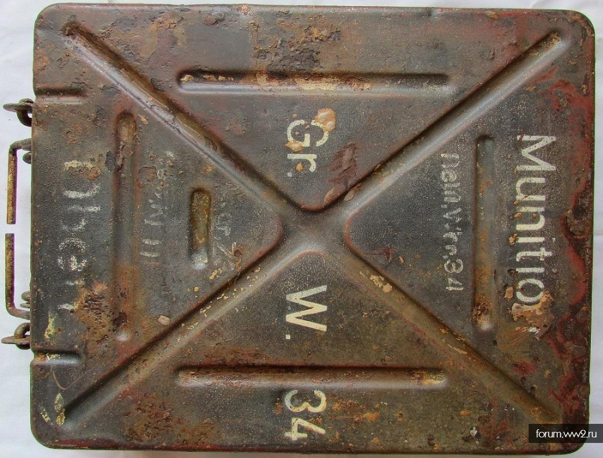1)ящик для 3 мин от 8 cm Gr.W.34(клеймо WaA, производителя, 1939)