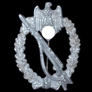 Штурмовой знак в серебре