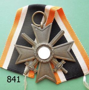 841. Крест военных заслуг с мечами, клеймо