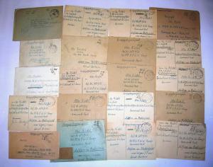 Полевая почта военнопленного. Лот писем - 20 штук