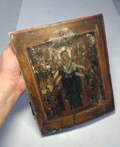 """""""Пресвятая Богородица Всех Скоарбящих Радость"""", 19 век, ковчег"""