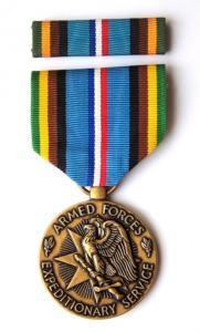 США. Медаль за службу в составе экспедиционных, вооружённых сил.