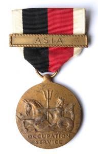 США. Медаль оккупационной службы военно - морских сил.