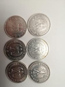 Пять марок 6шт